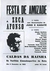 Festa de Amizade a Zeca Afonso