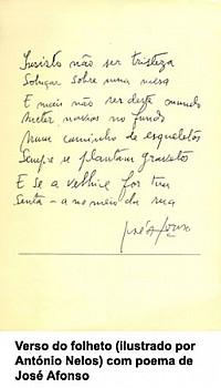 Poema de José Afonso