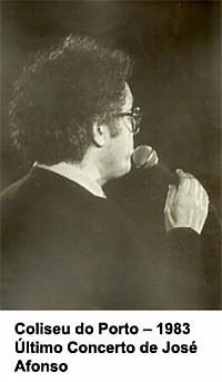 Último concerto de José Afonso