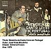 Memória do canto livre em Portugal